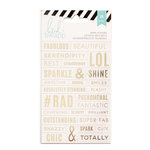 Heidi Swapp - Cardstock Stickers - Word Jumbles - Clear and Gold