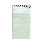 Heidi Swapp - Cardstock Stickers - Word Jumbles - Mint and Gold