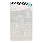 Heidi Swapp - Cardstock Stickers - Word Stickers - Silver and White