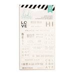 Heidi Swapp - Cardstock Stickers - Word Jumbles - White and Silver