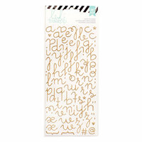 Heidi Swapp - Glitter Puffy Stickers - Alphabet - Gold