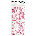 Heidi Swapp - Glitter Puffy Stickers - Alphabet - Hot Pink