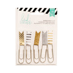 Heidi Swapp - Paper Clip Flags - Gold and Silver