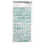 Heidi Swapp - Glitter Stickers - Alphabet - Teal