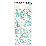 Heidi Swapp - Glitter Puffy Stickers - Alphabet - Teal