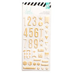 Heidi Swapp - Puffy Stickers - Numbers - Gold