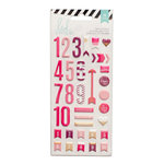 Heidi Swapp - Puffy Stickers - Numbers - Pink