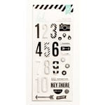 Heidi Swapp - Puffy Stickers - Numbers - Black and White