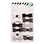 Heidi Swapp - Fabric Bows - Black and White