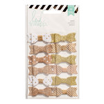 Heidi Swapp - Fabric Bows - Gold and White