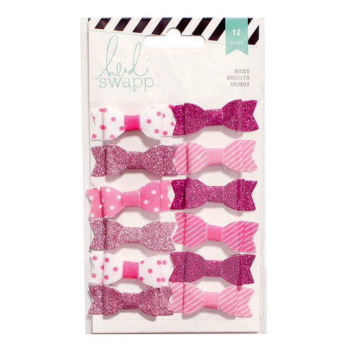 Heidi Swapp - Fabric Bows - Pink and White