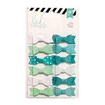 Heidi Swapp - Fabric Bows - Teal and White