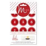 Heidi Swapp - MINC Collection - Christmas - Cardstock Stickers - Numbers