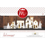Heidi Swapp - MINC Collection - Christmas - Decor - 3 Dimensional Paper Village
