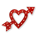 Heidi Swapp - Marquee Love Collection - Marquee Kit - 14 Inches - Heart with Arrow