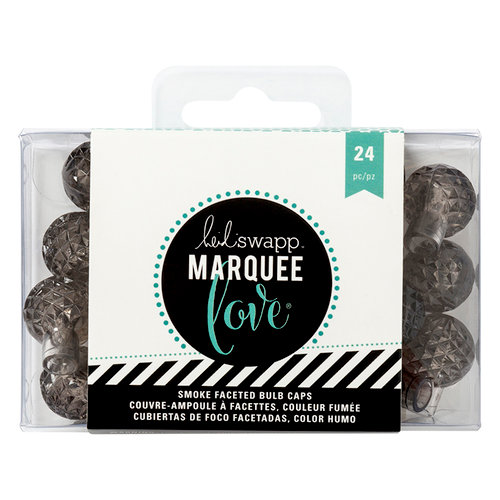 Heidi Swapp - Marquee Love Collection - Bulb Caps - Etched - Grey