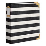 Becky Higgins - Project Life - Heidi Swapp Collection - Christmas - 6 x 8 D-Ring Album - Matte - Wood Stripes