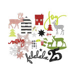 Heidi Swapp - Oh What Fun Collection - Christmas - Chipboard Shapes