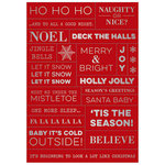 Heidi Swapp - Oh What Fun Collection - Christmas - Cardstock Stickers - Word Jumble