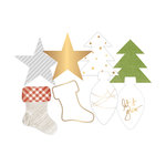 Becky Higgins - Project Life - Heidi Swapp Collection - Christmas - Die Cut Transparency Shapes