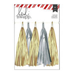 Heidi Swapp - Oh What Fun Collection - Christmas - Garland - Tassels - Silver and Gold Glitter