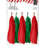 Heidi Swapp - Oh What Fun Collection - Christmas - Garland - Tassels - Red and Green