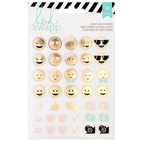 Heidi Swapp - Memory Planner - Clear Stickers - Emoticon
