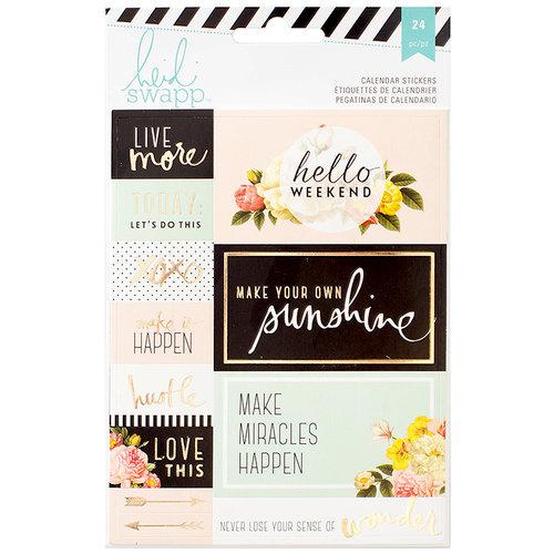 Heidi Swapp - Memory Planner - Cardstock Stickers - Calendar