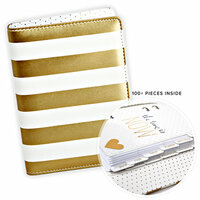 Heidi Swapp - Memory Planner - Personal Planner - Gold Foil - Stripes - Undated