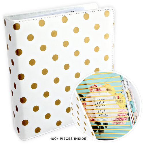 Heidi Swapp - Memory Planner - Planner - Large - Gold Foil - Dots - Undated