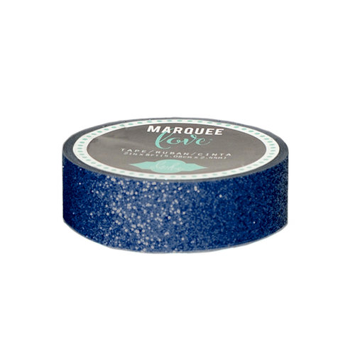 Heidi Swapp - Marquee Love Collection - Washi Tape - Glitter Navy - 0.875 Inches Wide