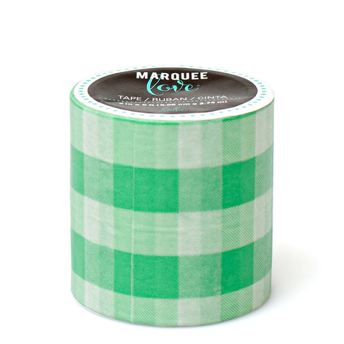 Heidi Swapp - Marquee Love Collection - Washi Tape - Mint Gingham - 2 Inches Wide