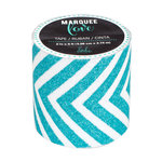 Heidi Swapp - Marquee Love Collection - Washi Tape - Glitter Teal Chevron - 2 Inches Wide