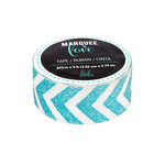 Heidi Swapp - Marquee Love Collection - Washi Tape - Glitter Teal Chevron - 0.875 Inches Wide