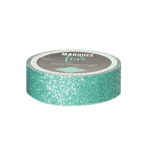 Heidi Swapp - Marquee Love Collection - Washi Tape - Glitter Mint - 0.875 Inches Wide