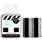 Heidi Swapp - LightBox Collection - Tape - Black and White Stripe - 2 Inches