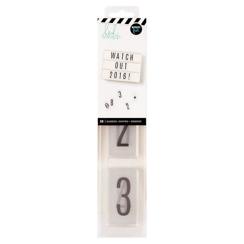 Heidi Swapp - LightBox Collection - Number Inserts - Black