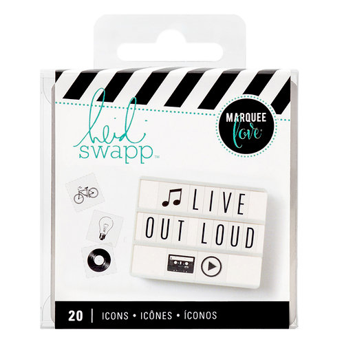 Heidi Swapp - LightBox Collection - Icon Inserts - Black