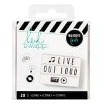 Heidi Swapp - LightBox Collection - Icon Inserts - Black