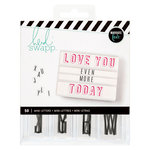 Heidi Swapp - LightBox Collection - Mini Alpha Inserts - Black