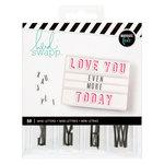 Heidi Swapp - LightBox Collection - Mini Alpha Inserts - Black