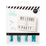Heidi Swapp - LightBox Collection - Mini Alpha Inserts - Teal