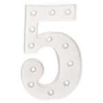 Heidi Swapp - Marquee Love Collection - Marquee Kit - 10 Inches - Number 5