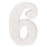 Heidi Swapp - Marquee Love Collection - Marquee Kit - 10 Inches - Number 6