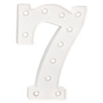 Heidi Swapp - Marquee Love Collection - Marquee Kit - 10 Inches - Number 7