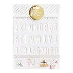 Heidi Swapp - MINC Collection - Tracing Template - Alpha