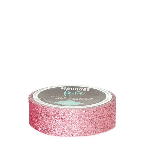 Heidi Swapp - Marquee Love Collection - Washi Tape - Glitter Pink - 0.875 Inches Wide