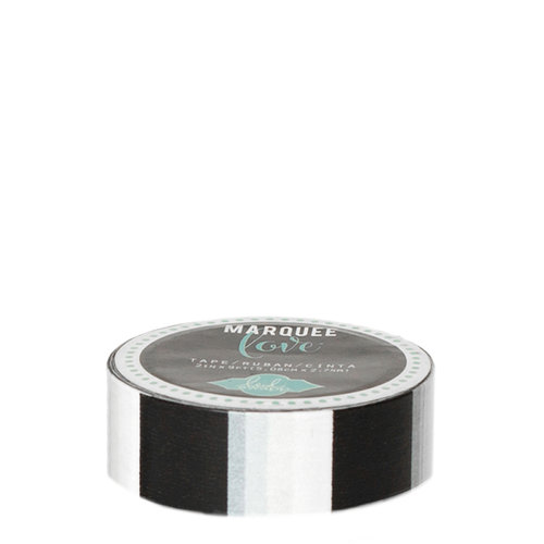 Heidi Swapp - Marquee Love Collection - Washi Tape - Black Stripe - 0.875 Inches Wide