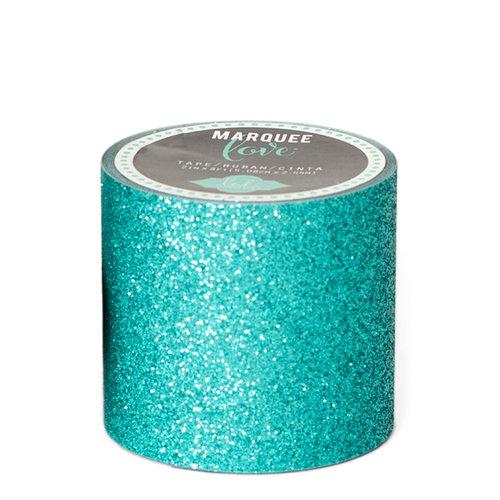 Heidi Swapp - Marquee Love Collection - Washi Tape - Glitter Aqua - 2 Inches Wide