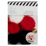 Heidi Swapp - Embellishment Kit - Pom Poms And Bells